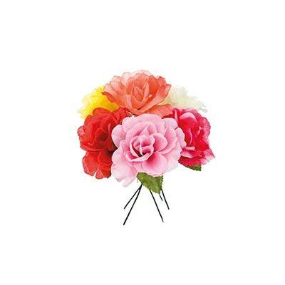 SILK OPEN ROSE