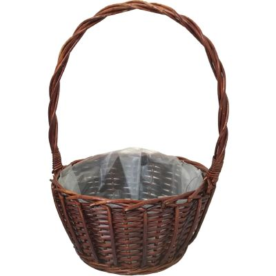 ROUND TROON BASKET WITH OVERHANDLE
