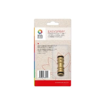 """BRASS DOUBLE MALE TO MALE HOSE PIPE CONNECTOR 1/2"""""""