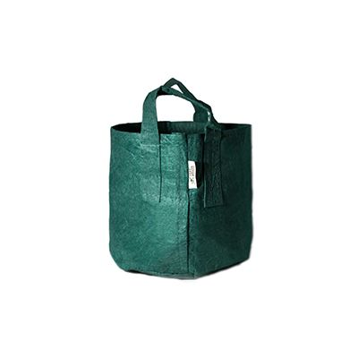 ROOT POUCH GREEN NON-DEGRADABLE CONTAINER W/HANDLE