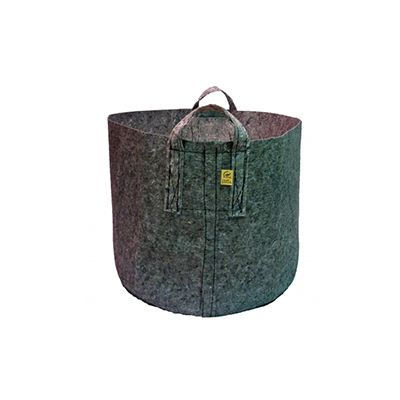 ROOT POUCH GREY  IN-GROUND GROW BAG CONTAINER W/HANDLE