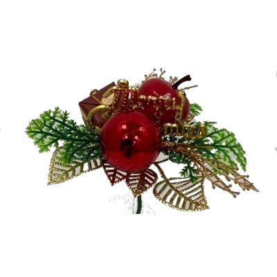 APPLE, BALL & MERRY CHRISTMAS PICK